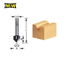 'V' Groove Router Bits