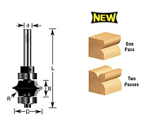Leaf-Edge Beading Router Bits
