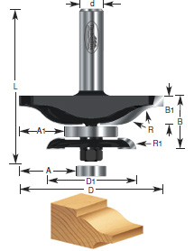 Ogee Raised Panel Router Bits with Back Cutter