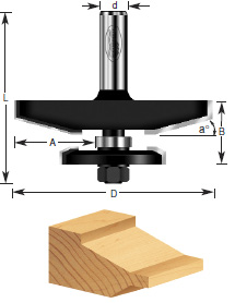 Traditional Raised Router Bits with Back Cutter