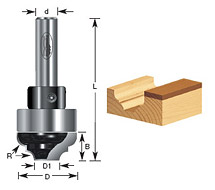 Convex Edging Router Bits